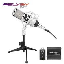 Nouvelle version bm 800 Microphone À Condensateur PC/KTV Pro Vocal Audio Studio KTV Karaoké Microphone + Métal Shock Mount + Métal trépied