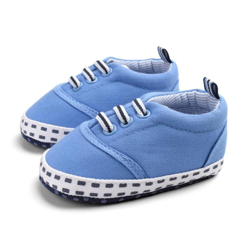 2019 العلامة التجارية الجديدة الطفل الفتيان الفتيات قماش كلاسيكي أحذية طفل عارضة مرونة أحذية لينة prewalkers رياضية