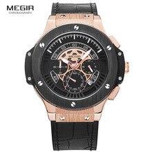 Relogio masculino 2016 Megir Cronógrafo Reloj Hombres Relojes de Marca Famosa ejército Deporte Masculino Hombres Reloj de Pulsera Para Hombre Erkek Kol Saati
