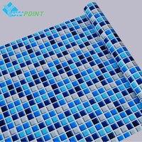 45 cm X 5 m Kendinden yapışkanlı Mozaik PVC Vinil Duvar Çıkartmaları Su Geçirmez Banyo Mutfak için Duvar Kağıtları Poster Duvar Çıkartmaları ev Dekor