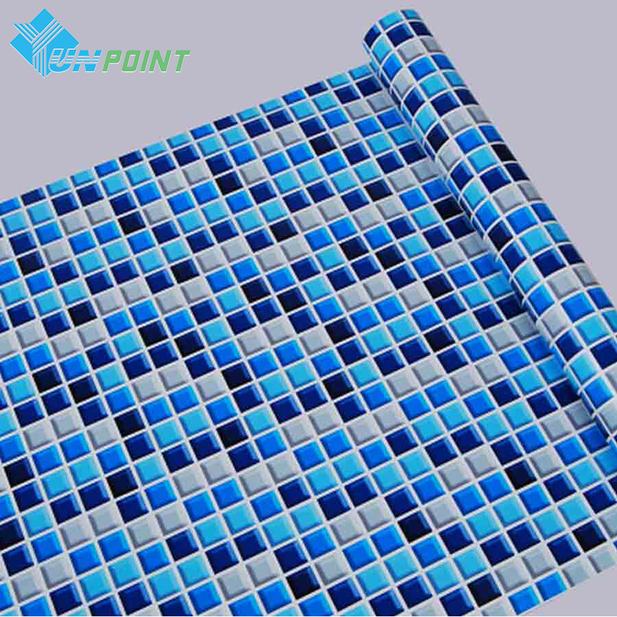 45cmX5m Self adhesive Mosaic PVC Vinyl Wall Stickers Waterproof ...
