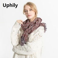 Newest Style Women Acrylic Scarf Unisex Scarf Soft Warm Comfortable Spring Autumn Winter Scarf Fashion Thick