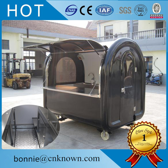 High Quality 4 Small Wheels Food Trailer Mobile Cart Fast Truck Free Shipping By