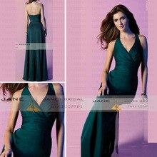 E4173 Vestidos De Noche Kleid Partei Halfter Türkis Bodenlangen A-linie Langes Abendkleid Sexy Formales Abschlussball-kleid