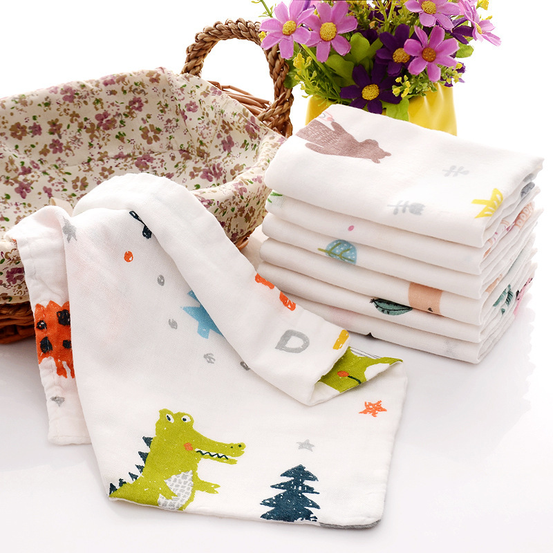 5Pcs100% Cotton Newborn Baby Towels Saliva Gauze Wash Face A Of Cloth A Piece Of Handkerchief Pure  Wipe