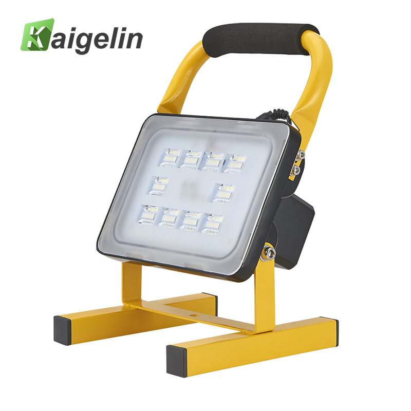 20W Waterproof Rechargeable LED Flood Light Portable Spotlight Changing Floodlight Emergency Outdoor Camping Car Work Lighting ultrathin led flood light 200w ac85 265v waterproof ip65 floodlight spotlight outdoor lighting free shipping