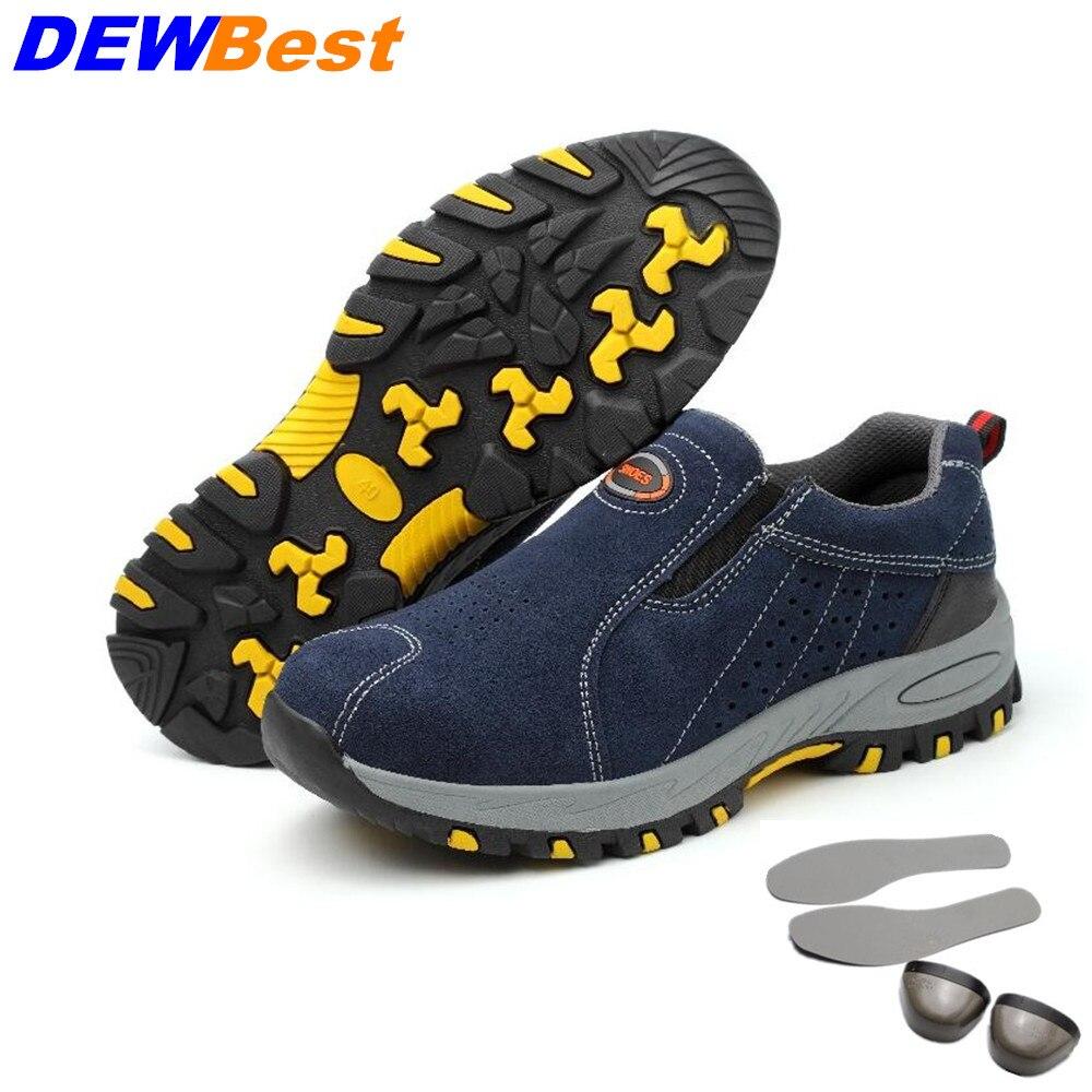Dewbest Männer Stahl Kappe Sicherheit Arbeit Schuhe Atmungsaktiv Wandern Sneaker Multifunktions Schutz Schuhe Um Eine Reibungslose üBertragung Zu GewäHrleisten Sicherheit & Schutz Arbeitsplatz Sicherheit Liefert