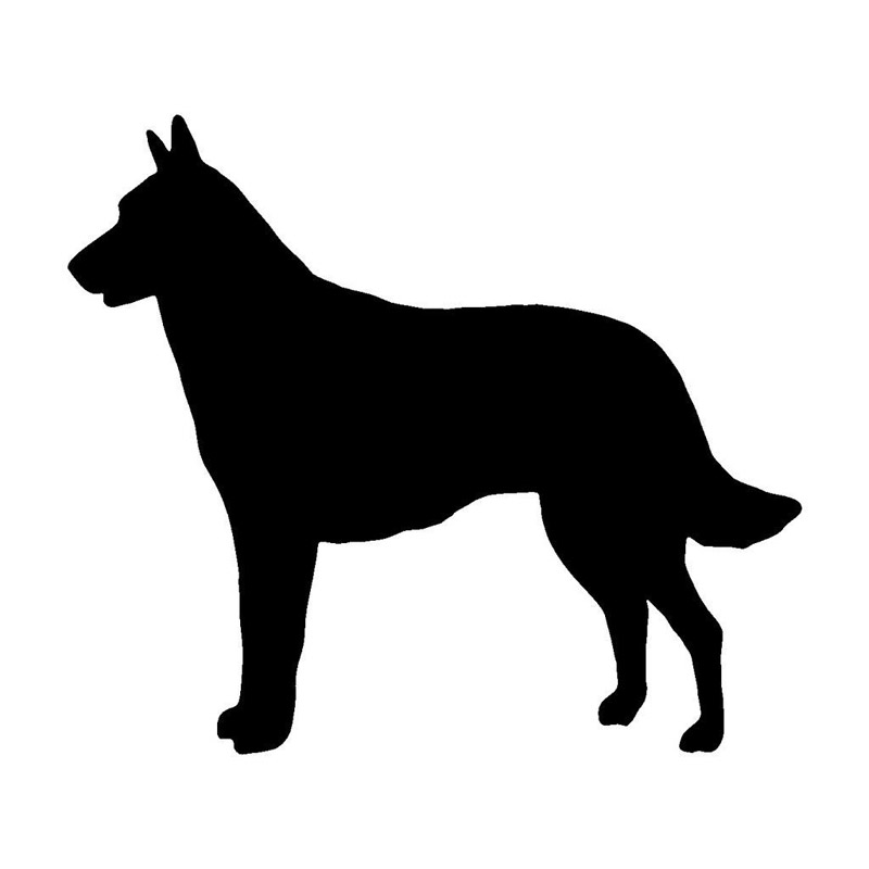 14.7*12.7CM Belgian Malinois Dog Car Window Decorative Stickers Lovely Animal Decal Accessories C6-0942