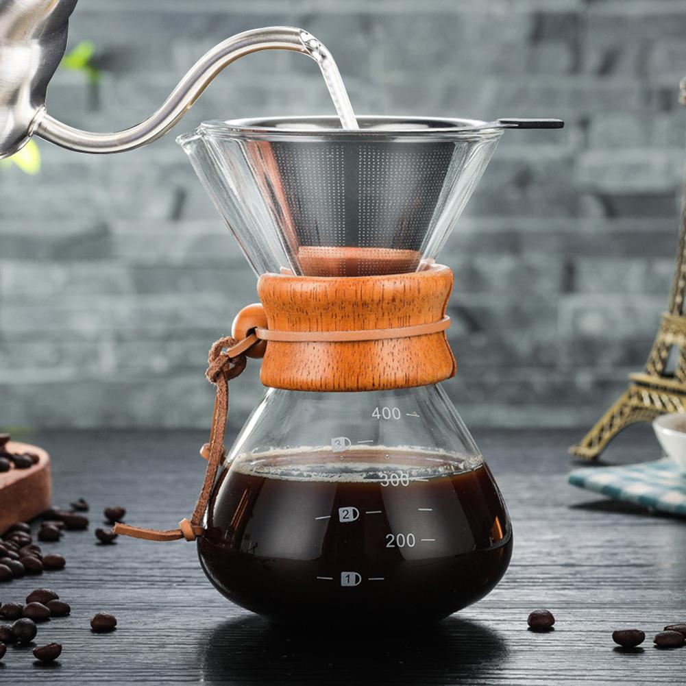 400 Ml High-borosilicate Glass Pour-over Coffee Manual Drip Coffee Maker High Temperature Resistant Glass Coffee Maker Coffee Ma400 Ml High-borosilicate Glass Pour-over Coffee Manual Drip Coffee Maker High Temperature Resistant Glass Coffee Maker Coffee Ma