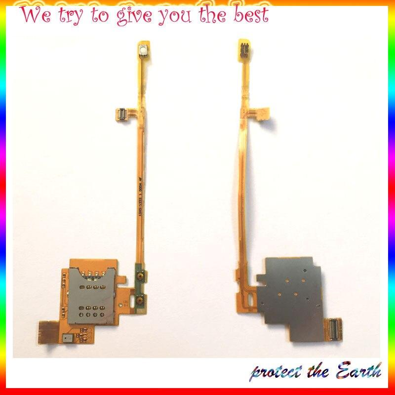 10Pcs/Lot, For Sony Xperia Acro S LT26W Sim Card Reader Holder Sim Slot Tray Module Flex Cable