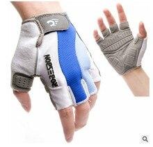 Riding font b gloves b font super pad shorts bike movement blue and white half finger
