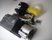Kit CNC del huso 2.2KW huso de la refrigeración de agua + inversor + pinzas ER20 + bomba de agua + tubería de agua + husillo soporte + cnc pedacitos del grabado