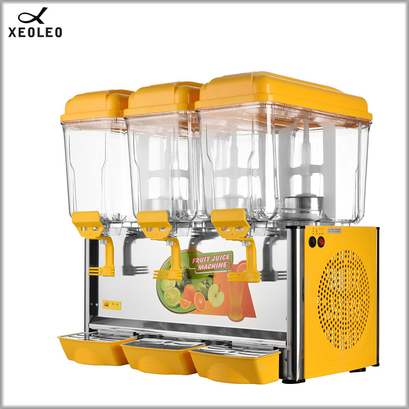 XEOLEO Three Jars Cold&Hot Drink Machine 12L*3  Fruit Juice Dispenser Beverage Machine Cool Beverage Maker  220V/110V R134a/120g