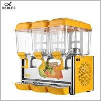 XEOLEO Three jars Cold&Hot Drink machine 12L*3 fruit juice dispenser beverage machine Cool beverage maker 220V/110V R134a/120g