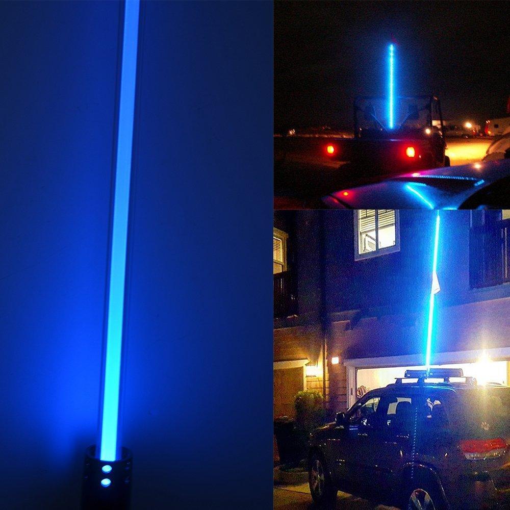 1.5 м синий красный фиолетовый цвет Сид дистанционного управления антенна светодиодный свет флаг безопасности светодиодные антенны подсветкой цвет на квадроцикл Polaris