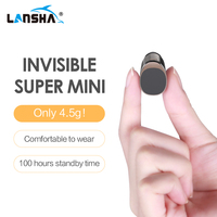 LANSHA Mini Bluetooth Earbuds Handsfree Noise Cancelling Smallest Wireless Earphone With Mic For Mobile Phone Iphone In Car