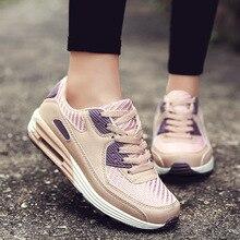 Женская обувь для бега; Новинка; осенние розовые женские кроссовки; дышащая женская обувь на шнуровке; обувь для фитнеса; sapato feminino; Размеры 35-40; C8170