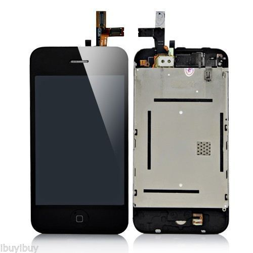 GOOD Quality A lcd display touch digitizer screen assembly part black for iPhone 3g 3gs free shipping low cost good quality