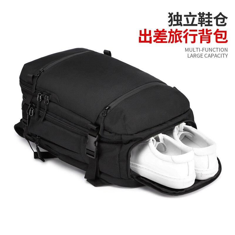 ZYJ hommes d'affaires voyage randonnée sac à dos pour ordinateur portable avec poche à chaussures femmes USB Interface de charge école sac à dos sac à dos sac à dos - 4