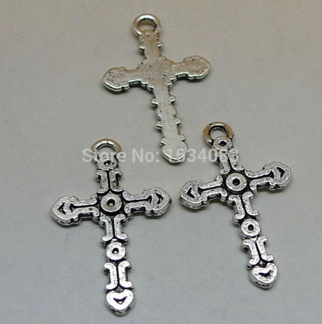 Free Shipping Wholesale 20pcs Tibetan Silver Symbol Cross Charm