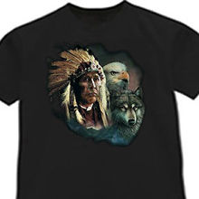 f15b59ed Native American Indian shirt Wolf Eagle tshirt T-shirtCartoon t shirt men  Unisex New Fashion