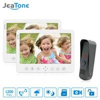 JeaTone Waterproof Outdoor Camera Doorbell 2 7 Monitor Video Intercom DoorPhone Intercom Multi Languages Menu Built
