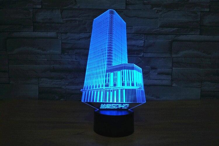 D nachtlampje gebouw lamp d visual led nachtverlichting usb