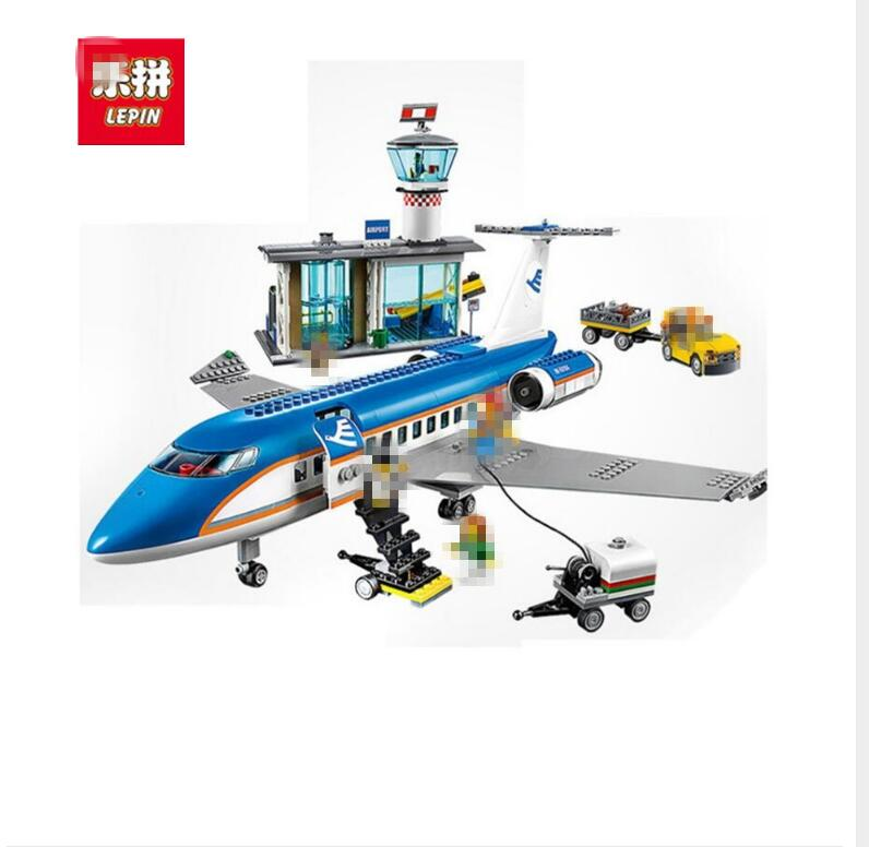 LEPIN 02043 City Series Airport Terminal Assembly Building Blocks Bricks Toys Compatible City 60104 Brinquedos Bricks Toys Gift kazi 608pcs pirates armada flagship building blocks brinquedos caribbean warship sets the black pearl compatible with bricks