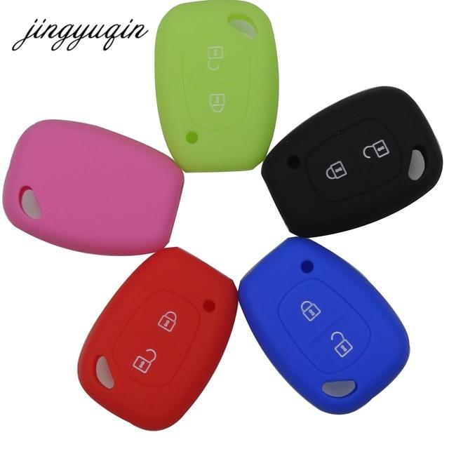 jingyuqin Silicone Car key Fob Cover Case for Renault Vivaro Movano Traffic Master Kangoo for Nissan Opel