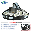 Super Bright Headlamp 9 CREE XML T6 LED Headlight Usb Rechargeable Head Lamp 18650 High Power