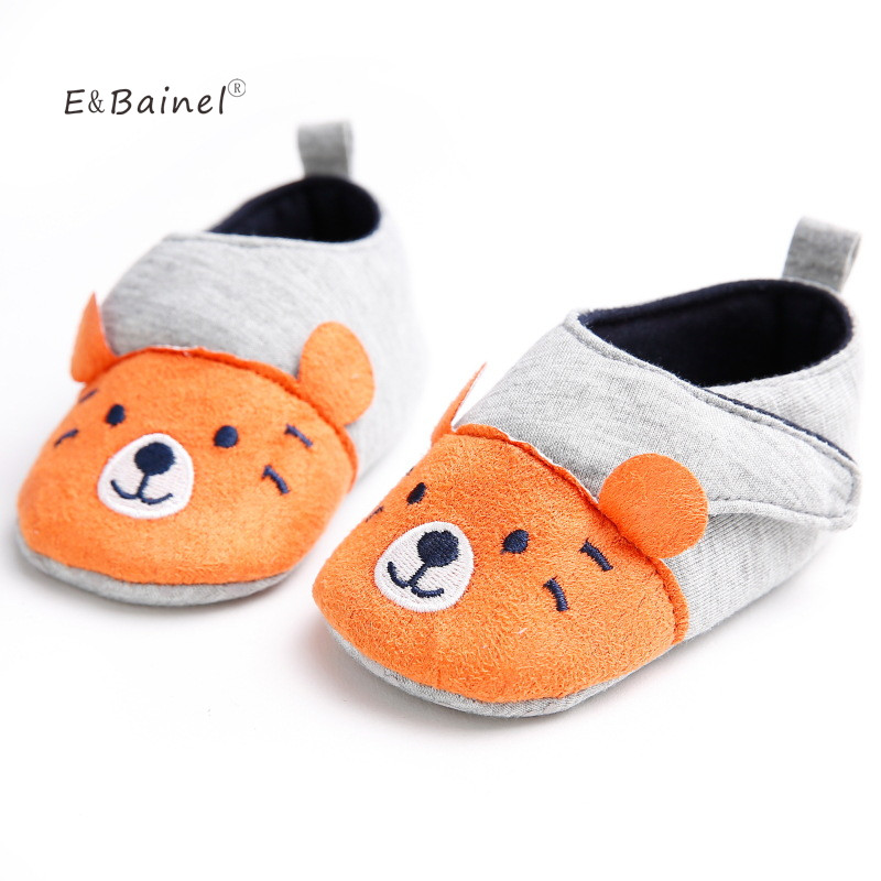 E&Bainel Cute Baby Winter Slipper Baby Girls Warm Plush Booties Infant Indoor Soft Slipper Crib Shoes Baby Cartoon Shoes