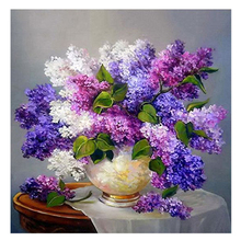 Hot Lavender 5D Diamond Embroidery DIY Craft Painting Cross Stitch(Lavender flowers )