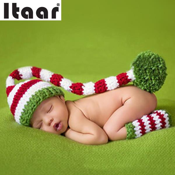 Newborn Baby Girls Crochet Knit Clothes Costume Color long tail Cap Lovely Photo Photography Outfits