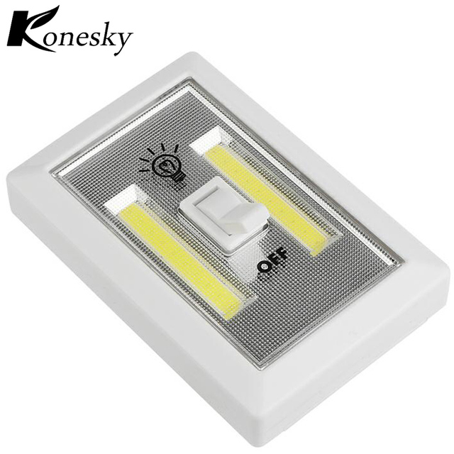 wiring diagram for wall lights 6w white light double cob led switch night trailer wire 6 pin ultra bright magnetic mini cap lamp battery operated with