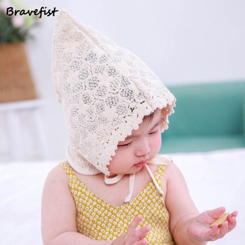 007b052d9fe85 Wholesale Newest Newborn Baby Girls Princess Hat Cap Cotton Palace Hat Cute  Sun Hats Korean Flower Lace Side Spring Summer Caps