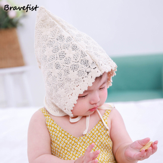 cda545e462d1 Wholesale Newest Newborn Baby Girls Princess Hat Cap Cotton Palace Hat Cute  Sun Hats Korean Flower Lace Side Spring Summer Caps