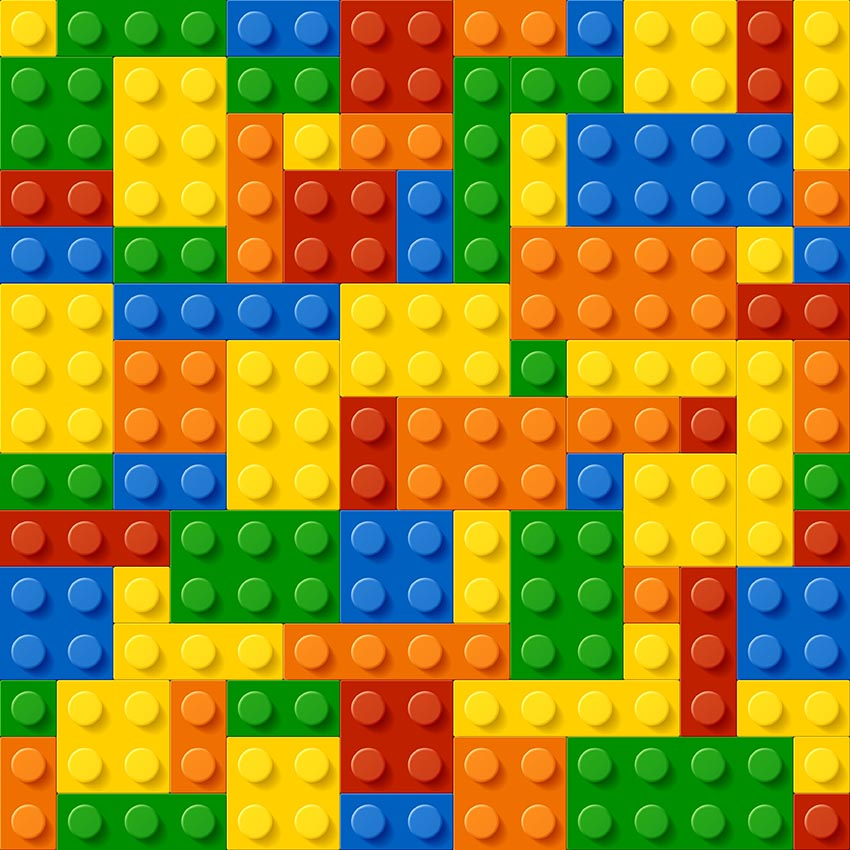 Lego Blocks Theme Background For Photography Green Red