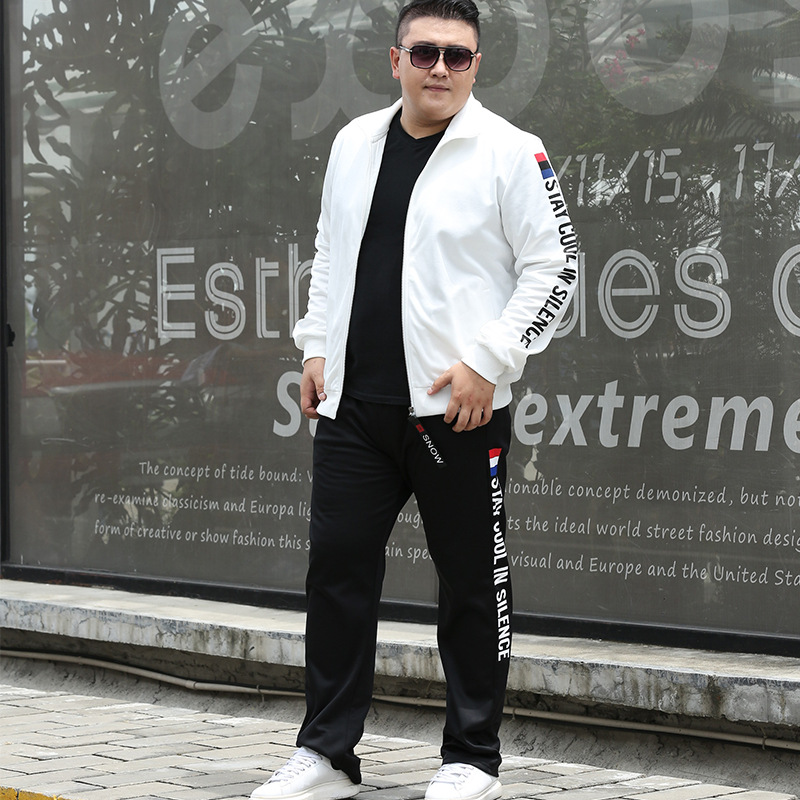 Tracksuit Set Men Clothes 2019 Fashion Fat Plus Size 7XL 8XL 9XL Sportwear Men Jacket +Pants 2 Piece Sets Sweat Suit Sweatshirts
