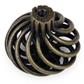 JFBL Hot sale 8 x Spiral Cage Kitchen Cabinet Handles Knobs 34mm--Antique brass