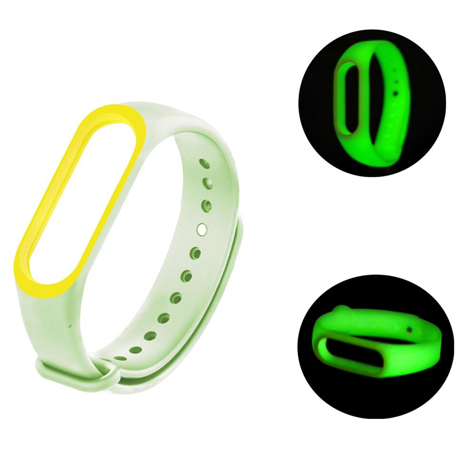 Replacement-Strap Bracelet Mi-Band Fluorescent Accessories Xiaomi for 3-miband3/Wristband/Noctilucent/Luminous