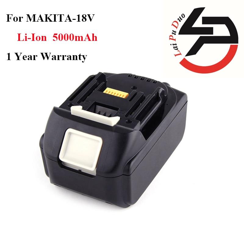 High quality Li-Ion Replacement power tool battery 18v 5.0Ah for MAKITA:194205-3,BJR181,194309-1,BL1830,LXT400,BDF452HW,LXT401 high quality 20v 2000mah li ion rechargeable battery power tool replacement battery for black