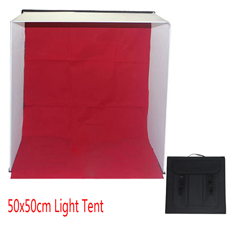 50cm photo studio portabl light tent photography light tent softbox soft shooting box. Black Bedroom Furniture Sets. Home Design Ideas