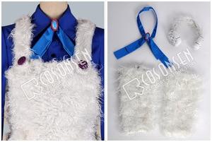 Image 4 - Cosplayonsen karneval nai cosplay traje azul camisa calças brancas qualquer tamanho feito à mão