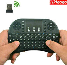 Tikigogo i8 2,4G ratón de aire inalámbrico inglés ruso mini teclado táctil control remoto para Android Smart TV box PC etc(China)