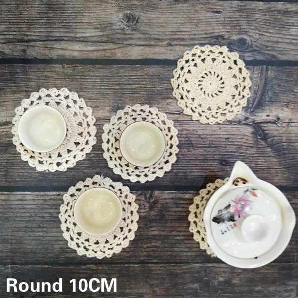 10cm Round Vintage Cotton Lace Placem At Handmade Table Place Mat