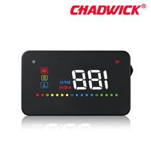 New CHADWICK Car HUD Head Up Display Universal Auto Vehicle Speeding Warning MPH Head Up Display Projector A200 OBD2 accessories