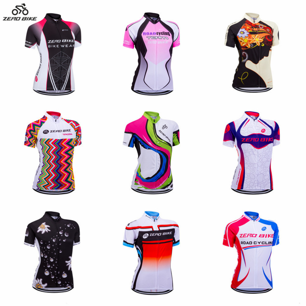 Zero Bike Women S Short Sleeve Cycling Jersey Quick Dry Breathable