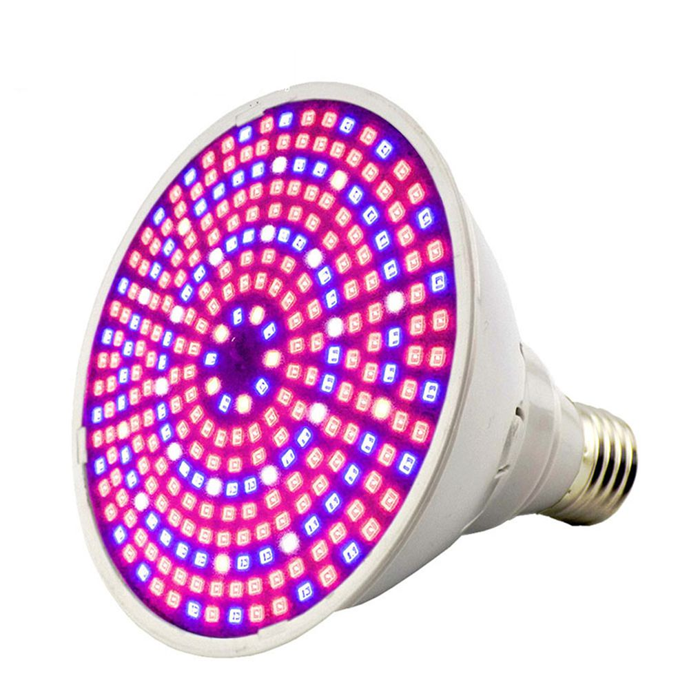 290 LED E27 Plant Grow Light 30W Full Spectrum PVC Indoor Plant Growing Lights Lamp Blue+Red+White+IR LEDs For Hydroponics Green