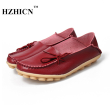 Women Casual Loafers High Quality Fashion Peas Shoes 2017 Summer Sapatos Feminino Hot Sale Flats Oxfords Plus Size Leather Shoes
