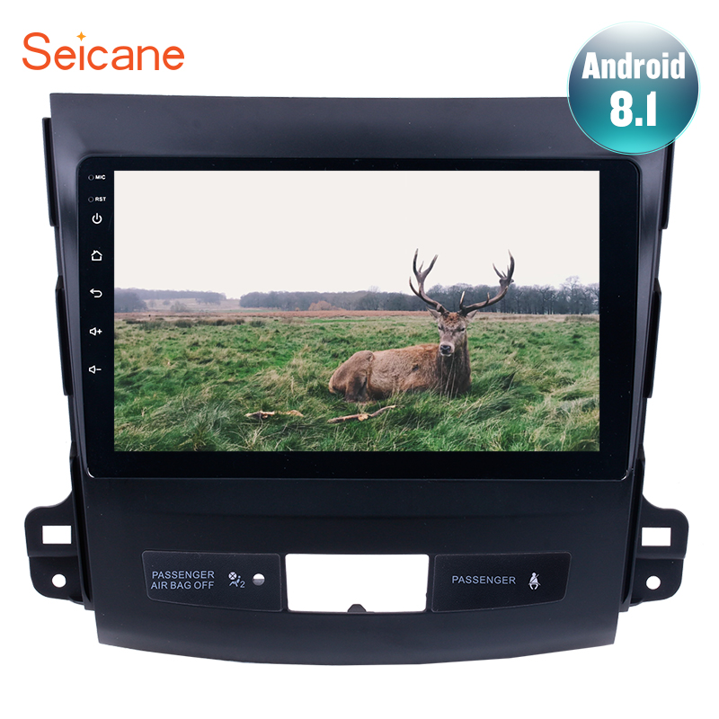 "Seicane Android 8.1 2Din Car GPS Multimedia Player 9"" For MITSUBISHI Outlander 2006 2007-2014 Audio Support Radio SWC DVR TPMS"